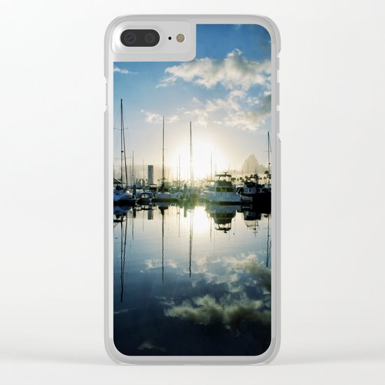 mirrored marina Clear iPhone Case