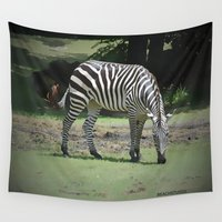 zebra Wall Tapestries featuring Zebra by BeachStudio