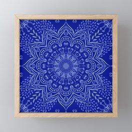 Blue Boho Mandala Framed Mini Art Print