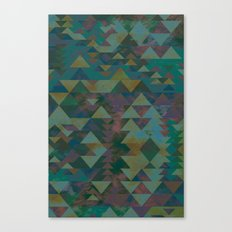 Delta Tribe - Green Canvas Print