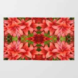 """""""A Gathering of Lilies"""" Remix - 5 (4-1) [D4471~15] Rug"""