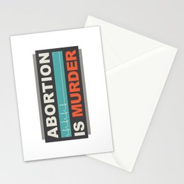Abortion Is Murder Stationery Cards