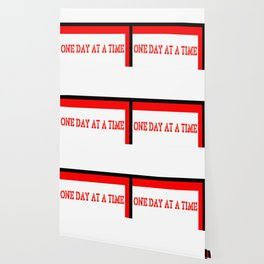 One Day at a Time (red block) Wallpaper