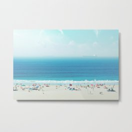 Elevated View Of Beach Of A Summer Day Metal Print