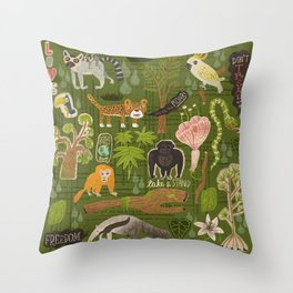 Rainforest citizens Throw Pillow