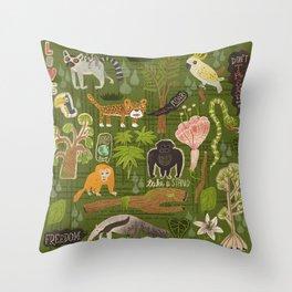 Rainforest citizens Throw Pillow