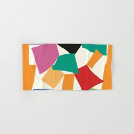 Colorful Collage Matisse Inspired Hand & Bath Towel