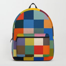 Haikili - Abstract Colorful Pixel Patchwork Art Backpack