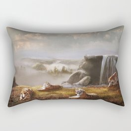 Endangered Siberian Tigers Rectangular Pillow