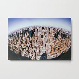 New York City // Retro 36 Metal Print