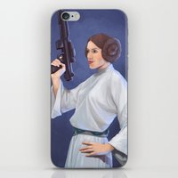 leia iPhone & iPod Skins featuring Leia by Sara Meseguer