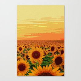 Maryland Sunflowers Canvas Print