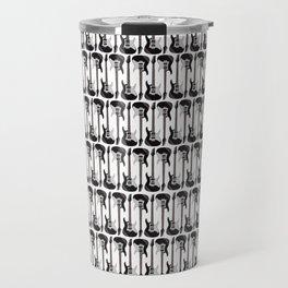 Guitars (Tiny Repeating Pattern on White) Travel Mug
