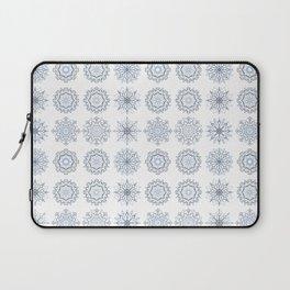 First Snowfall, winter snowflakes Laptop Sleeve