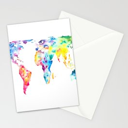 Gall–Peters projection Stationery Cards