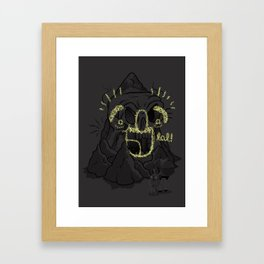 That Scary Skull Cave Dude Framed Art Print