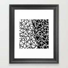 Ab Split Framed Art Print