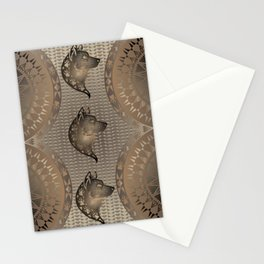 The Wolf (Brown) Stationery Cards