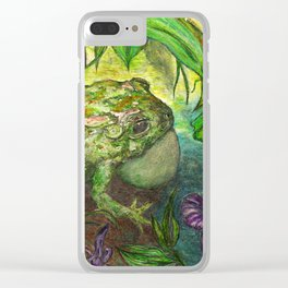 Rain Forest Toad Clear iPhone Case