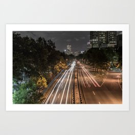Turnpike Streaks Boston Art Print