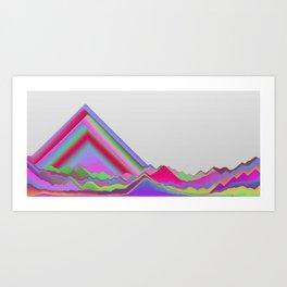 Sandset Art Print