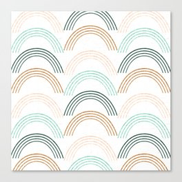 Rainbow #neutral Canvas Print