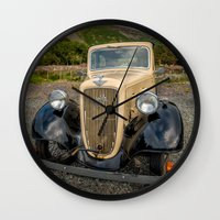 austin Wall Clocks featuring Austin 7 by Adrian Evans