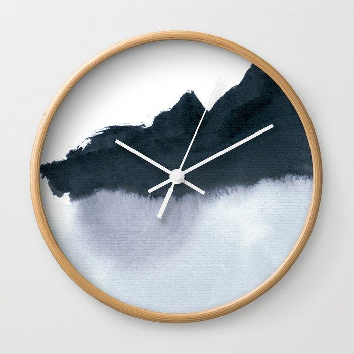 mountain scape minimal Wall Clock