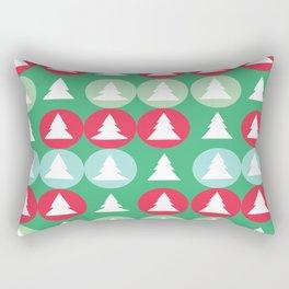 Christmas pattern green Rectangular Pillow