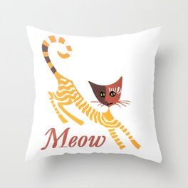 Funny red cat Throw Pillow
