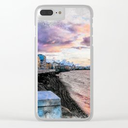 Trapani art 2 Clear iPhone Case