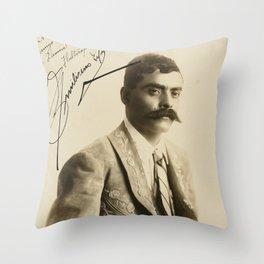 Emiliano Zapata with Signature, c.1915 Throw Pillow