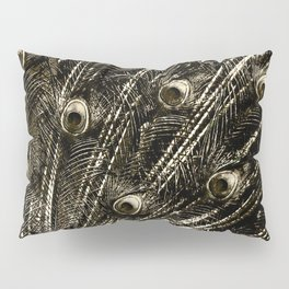 427 8 Steel Peacock Feathers Pillow Sham