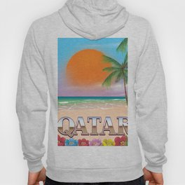Qatar beach travel poster Hoody
