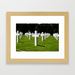 Normandy Cemetery Perspective Framed Art Print