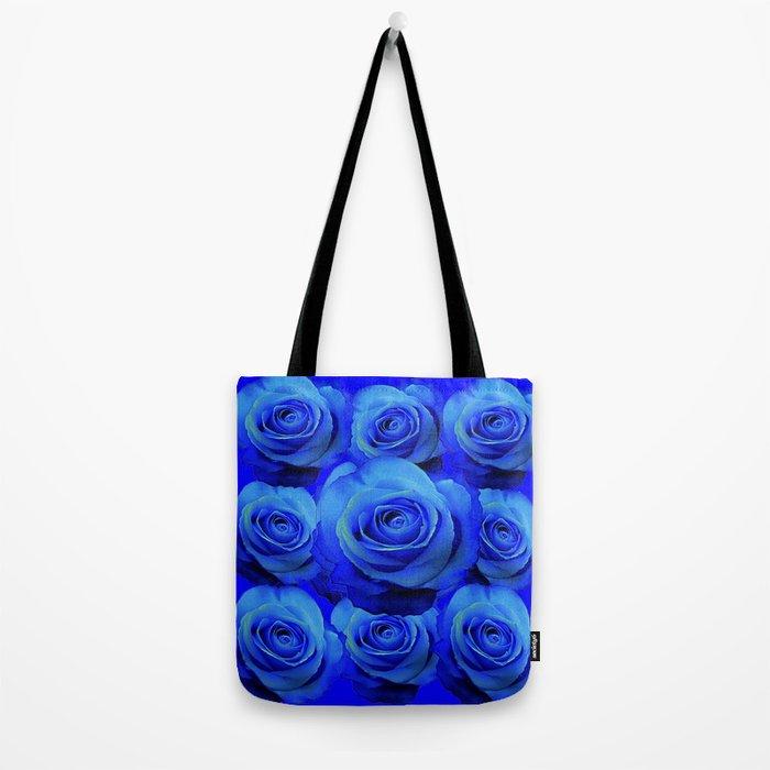 AWESOME BLUE ROSE GARDEN  PATTERN ART DESIGN Tote Bag