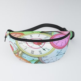 Colorful Clocks Fanny Pack