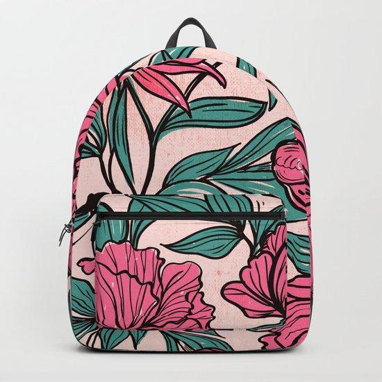 Sketchy Flowers Backpack