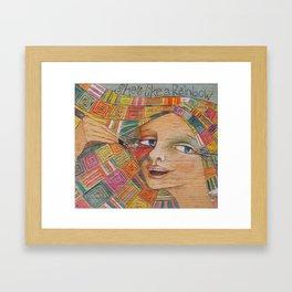 She's like a rainbow Framed Art Print