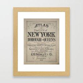 Atlas of The City of New York Borough of Queens Framed Art Print