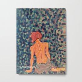 """Numb"" Fibromyalgia Warrior Acrylic Painting Metal Print"