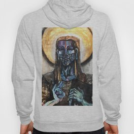 He stands at the door and knocks. Hoody