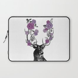 The Stag and Roses   Lilac   Purple Laptop Sleeve