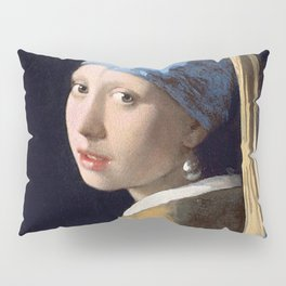 GIRL WITH A PEARL EARRING - JOHANNES VERMEER Pillow Sham