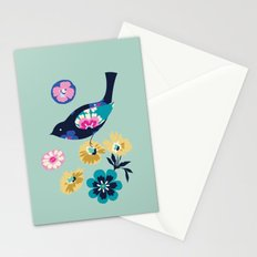 Birds and Blooms 4 Stationery Cards