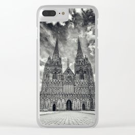 Lichfield Cathedral mono Clear iPhone Case