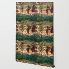 Four Trees - Egon Schiele Wallpaper