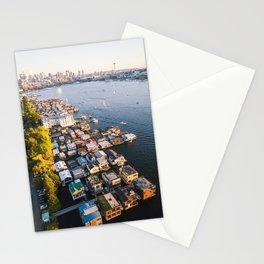 Houseboats on Lake Union Stationery Cards