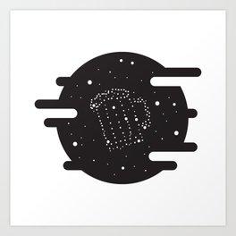 Beer constelation Art Print