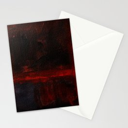 Mark Rothko Interpretation Red Blue Acrylics On Canvas Stationery Cards